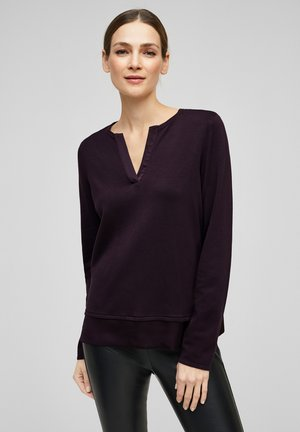 MIT SATIN-BLENDE - Jumper - dark purple