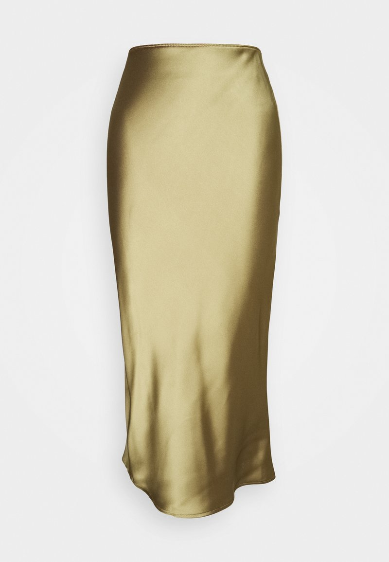Topshop Petite - SILT BIAS SKIRT - Maxi skirt - green