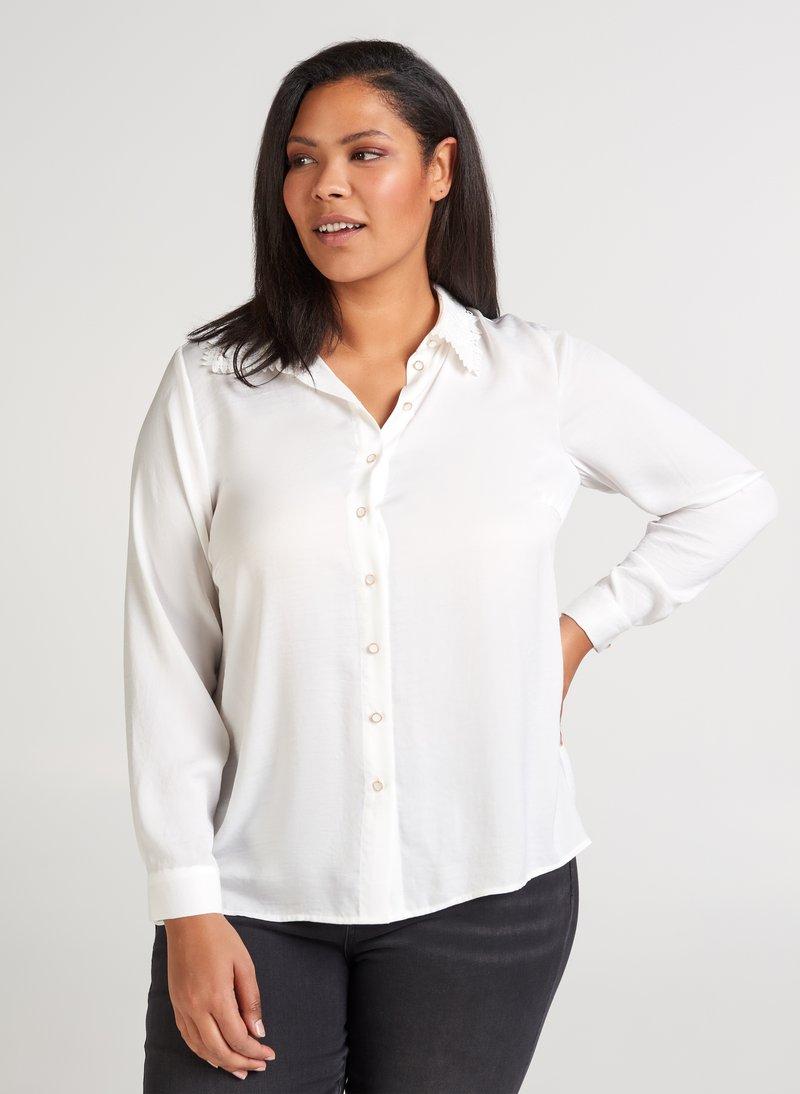 Zizzi - Button-down blouse - off-white