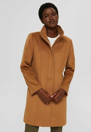 RECYCELT MIX MIT REISSVERSCHLUSS - Classic coat - caramel