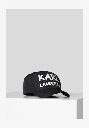 GRAFFITI LOGO - Cap - black/ white
