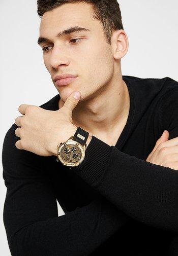 MENS SPORT - Chronograph watch - black/gold