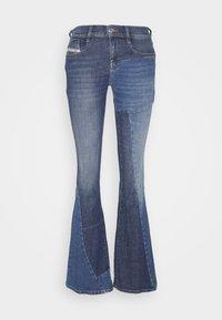 Diesel - D-EBBEY-GO - Flared Jeans - medium blue - 0