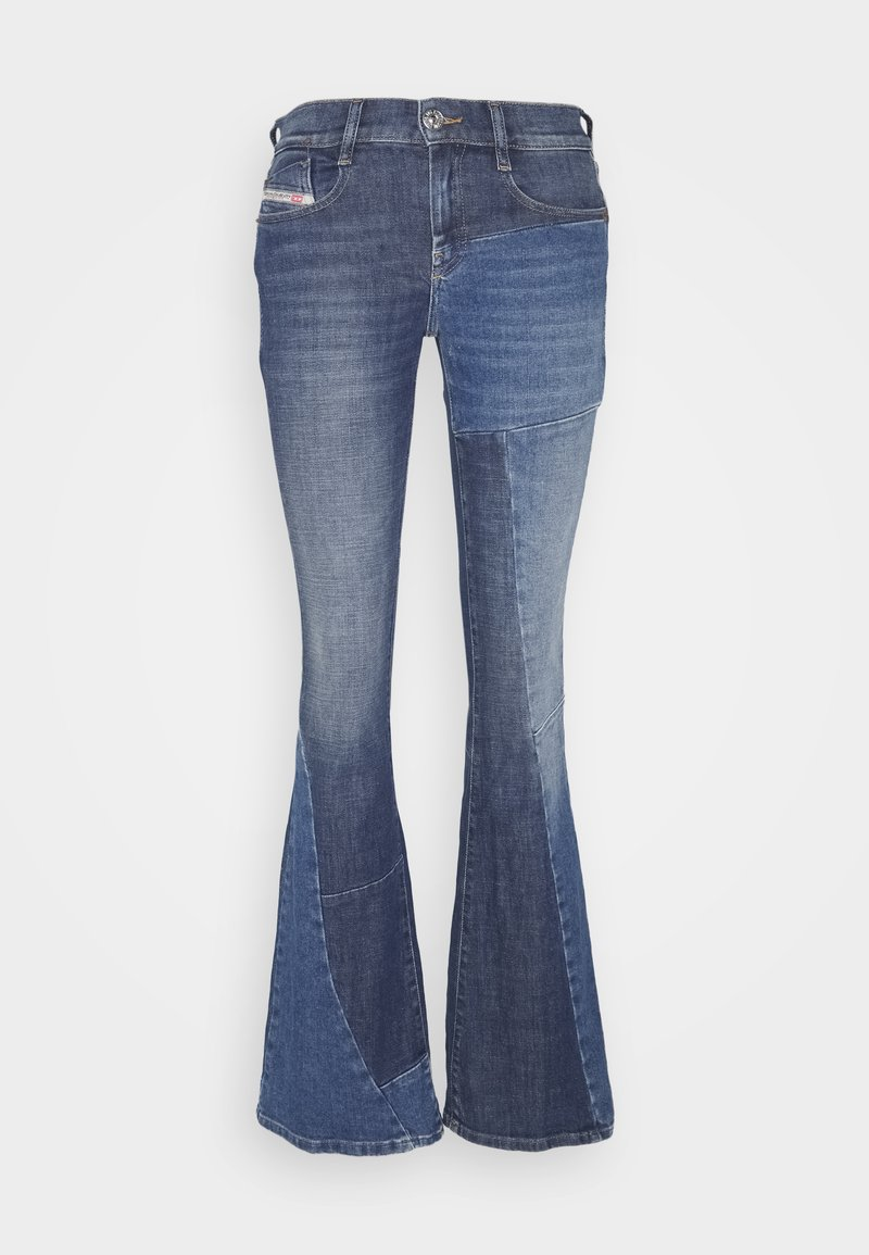 Diesel - D-EBBEY-GO - Flared Jeans - medium blue