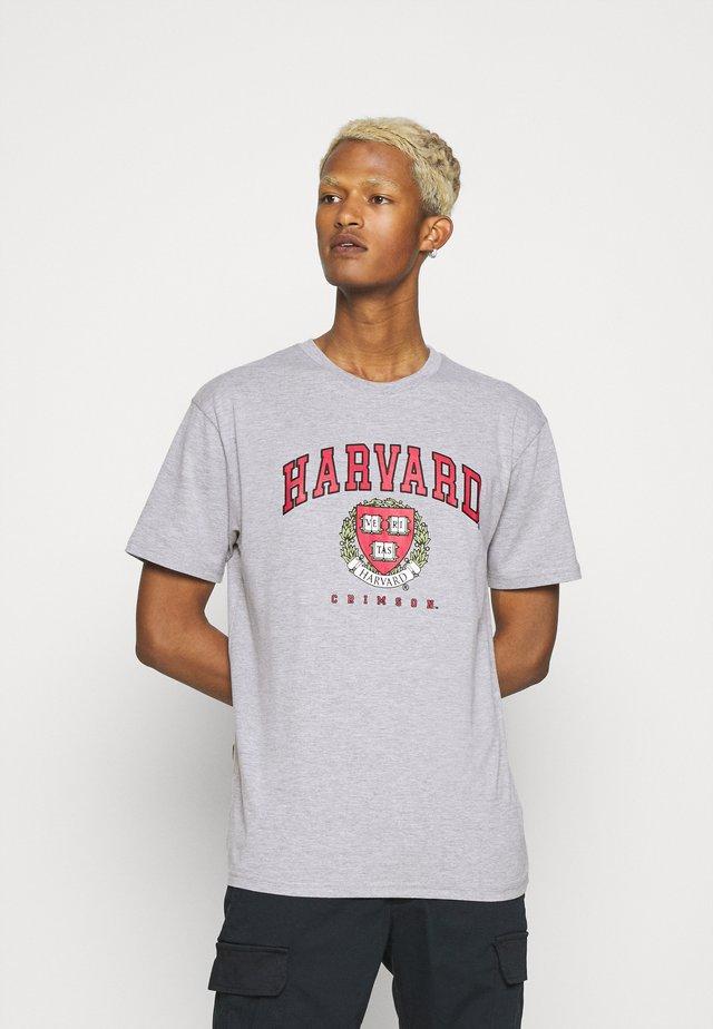 HARVARD CRIMSONTEE - T-shirt print - grey marl