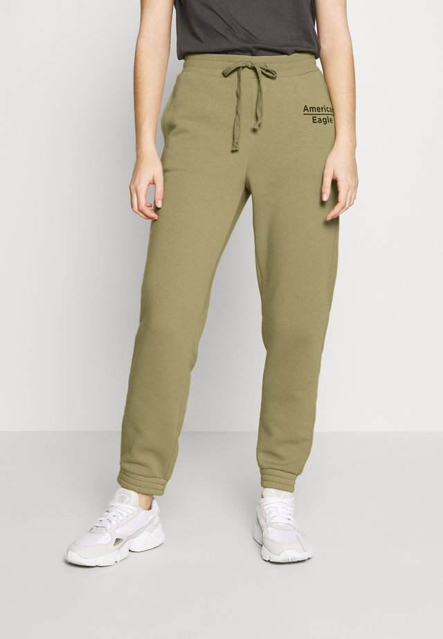 GRAPHIC JOGGER - Tracksuit bottoms - green