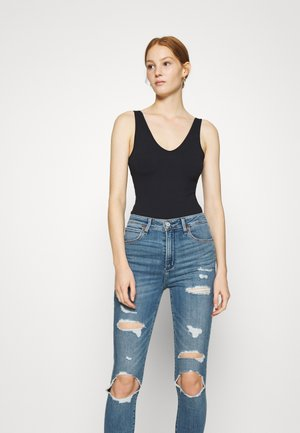 BARE SEAMLESS BODYSUIT - Top - black