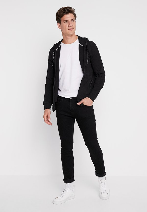 Cars Jeans ISCAR - Bluza rozpinana - black/czarny Odzież Męska RJCP