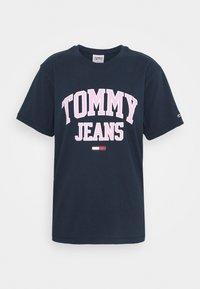 Tommy Jeans - COLLEGIATE LOGO - T-shirt print - twilight navy - 4