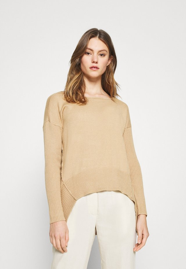 HIGH LOW JUMPER - Strickpullover - camel