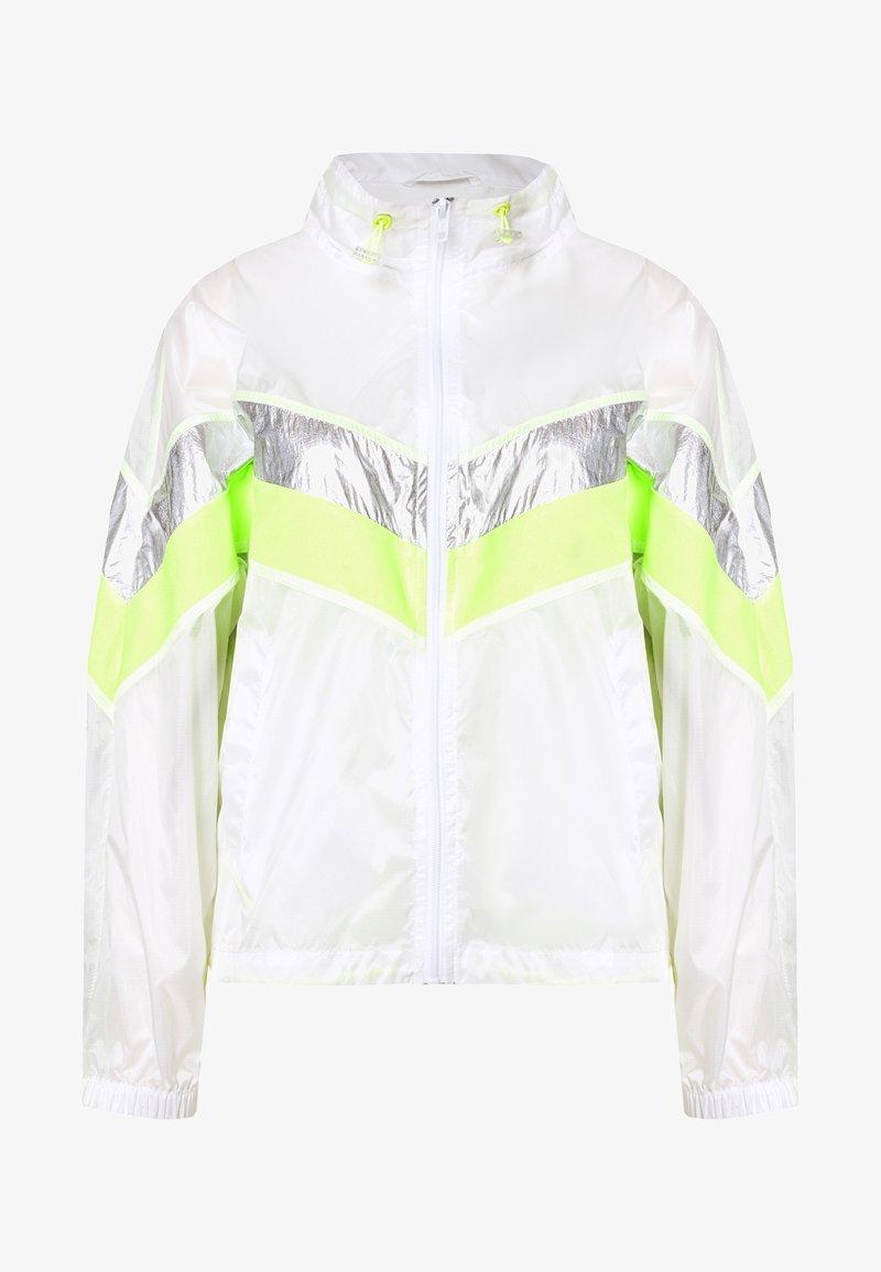Urban Classics - LADIES 3 TONE LIGHT TRACK JACKET - Summer jacket - white/silver