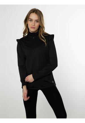 SHIRLEO - Zip-up sweatshirt - true black