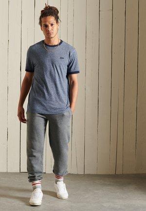 ORGANIC VINTAGE RINGER - Basic T-shirt - frosted navy grit