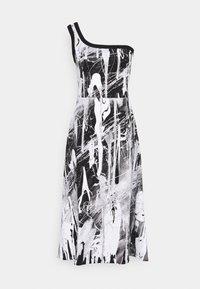 Christopher Kane - MINDSCAPE ONE SHOULDER DRESS - Vestito di maglina - black/white - 5