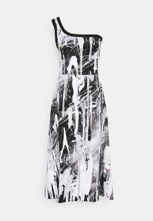 MINDSCAPE ONE SHOULDER DRESS - Vestito di maglina - black/white