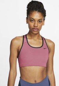 Nike Performance - BRA NON PAD - Sport BH - desert berry/black - 0