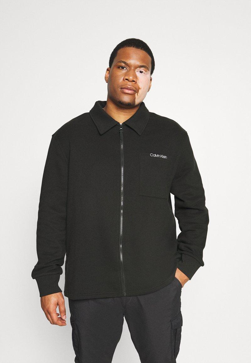 Calvin Klein - JACKET - Zip-up sweatshirt - black