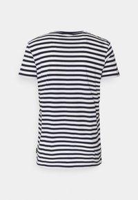 recolution - TENCEL STRIPES - Print T-shirt - navy/white - 1