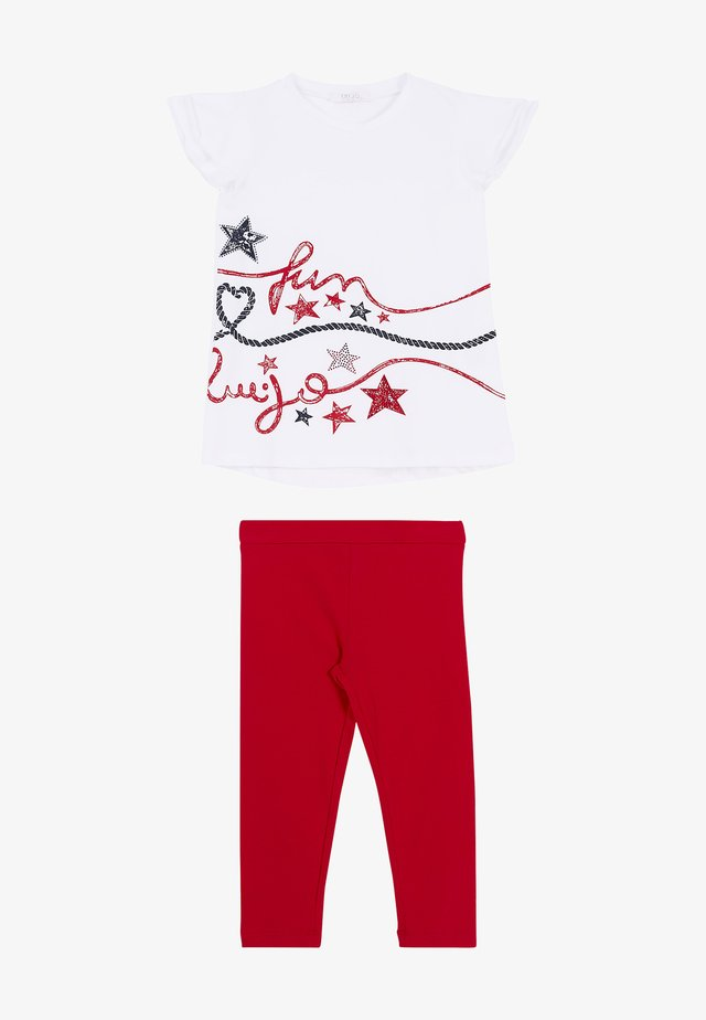 T-shirt con stampa - white/red