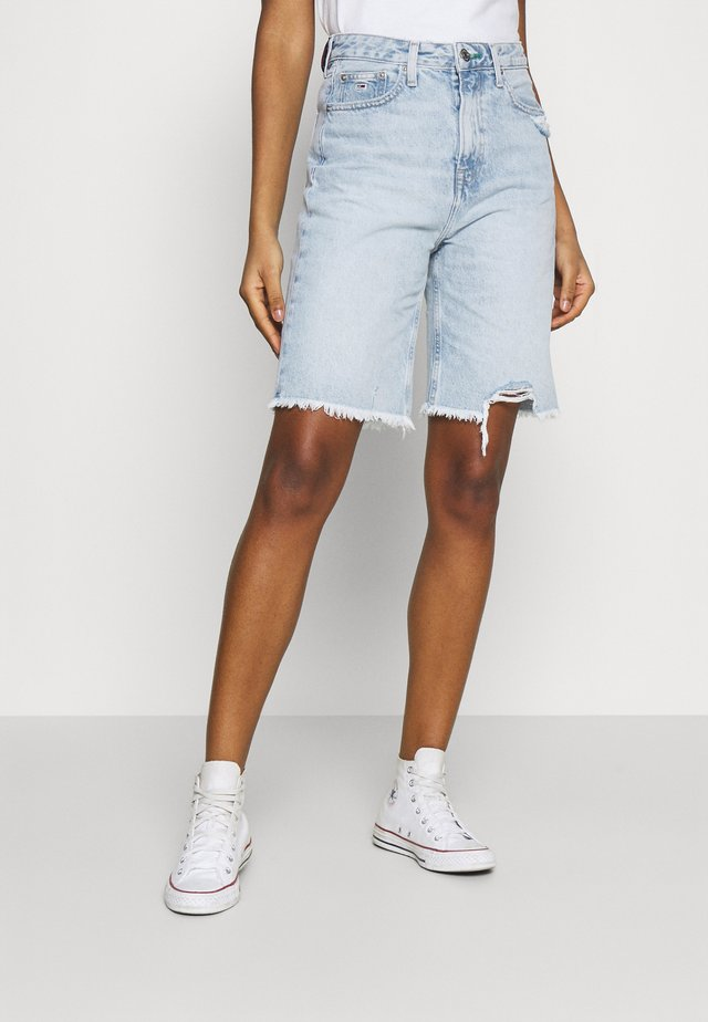 HARPER DENIM BERMUDA - Denim shorts - light blue denim