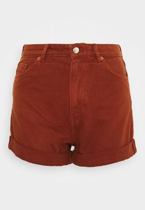 TALLIE - Jeans Shorts - brown dark unique