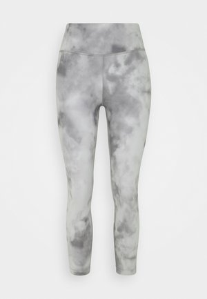 ONE CROP - Leggings - smoke grey/white