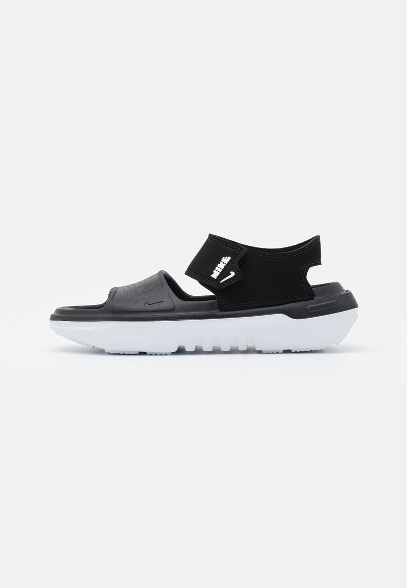 Nike Performance - PLAYSCAPE UNISEX - Pool slides - black/white/smoke grey