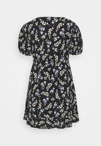 Dorothy Perkins Petite - DITSY FRILL FRONT FAUCHETTE MINI DRESS - Jersey dress - black - 1