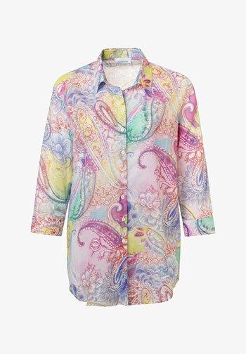 Button-down blouse - pink druck