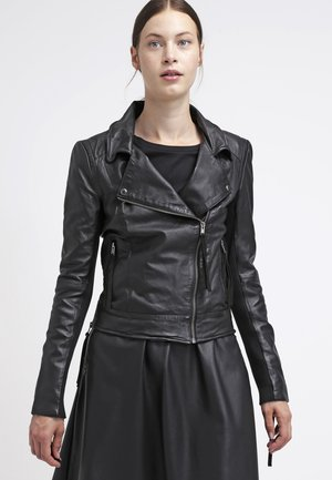 IMAN - Kožená bunda - black