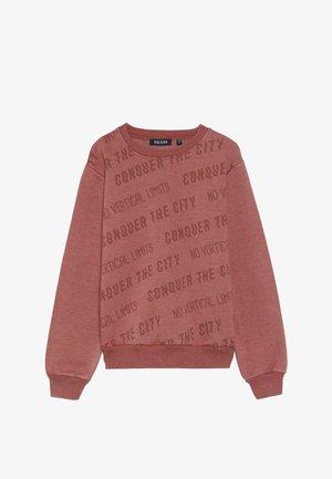 RUNDHALS - Sweatshirt - ziegel
