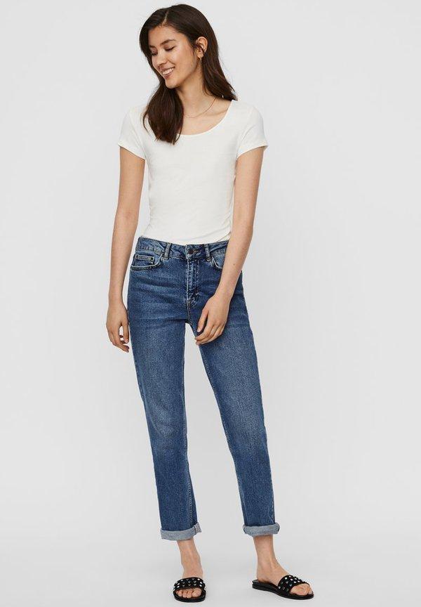 Vero Moda T-shirt basic - snow white 2 Odzież Damska QZSB NU 8