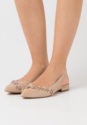 JOURNEY - Slingback ballet pumps - light champagne
