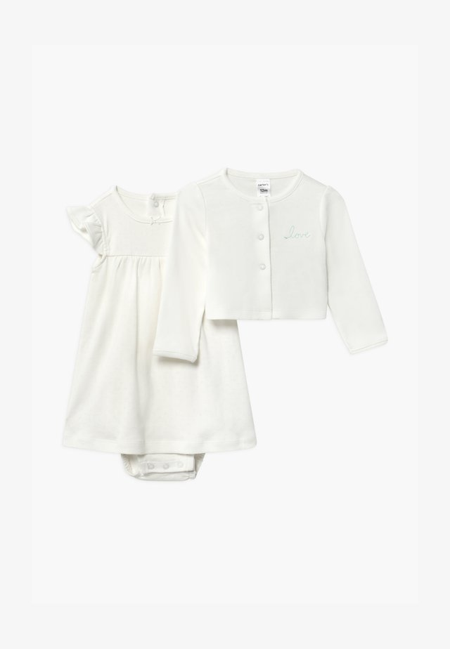 SET - Strikjakke /Cardigans - white