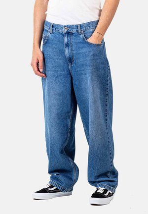 Relaxed fit jeans - faded light blue