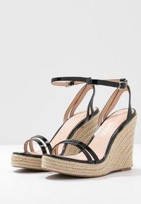 Even&Odd Wide Fit - Korolliset sandaalit - black - 2