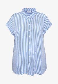 MY TRUE ME TOM TAILOR - SHORT DROP SLEEVE  - Button-down blouse - vertical blue - 4