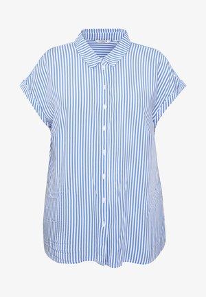 SHORT DROP SLEEVE  - Skjorte - vertical blue