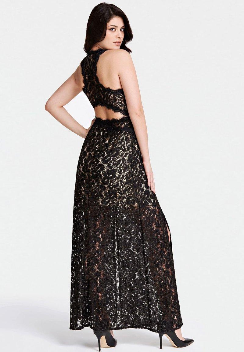 GUESS LANGES SPITZENKLEID - Cocktailkleid/festliches Kleid - schwarz