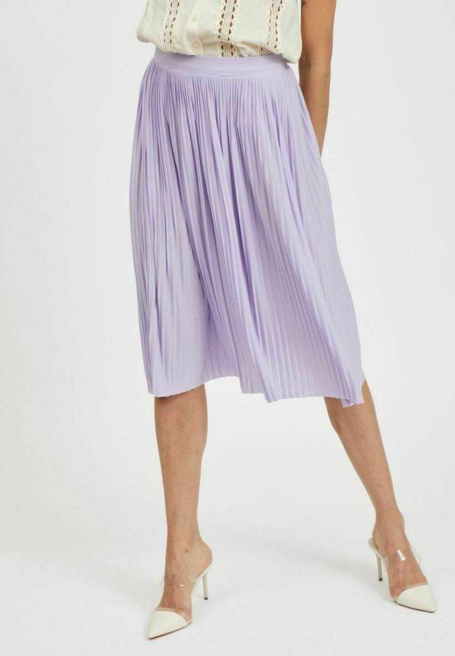 FALTENDETAIL - Gonna a pieghe - lavender