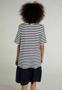 Oui - Day dress - white blue - 2