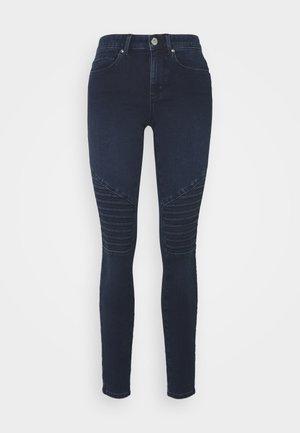 ONLROYAL LIFE BIKER - Jeans Skinny - dark blue denim