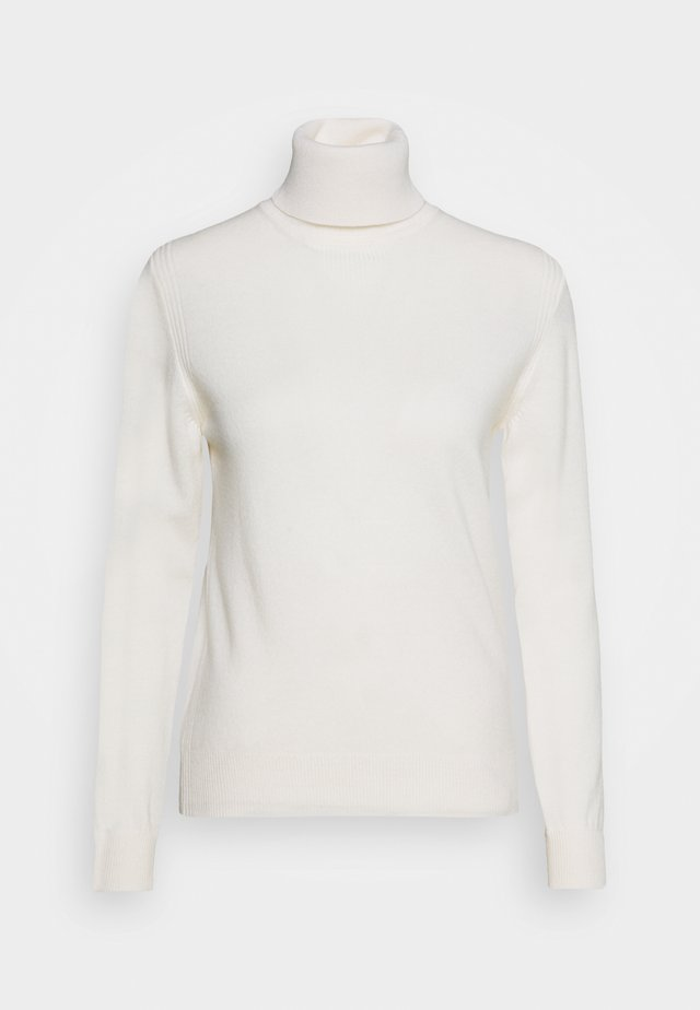 ENGINEERED ROLL NECK - Jumper - off white