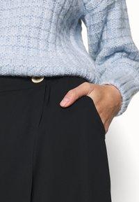 UNIQUE 21 - WRAP FRONT TROUSER - Trousers - black - 5