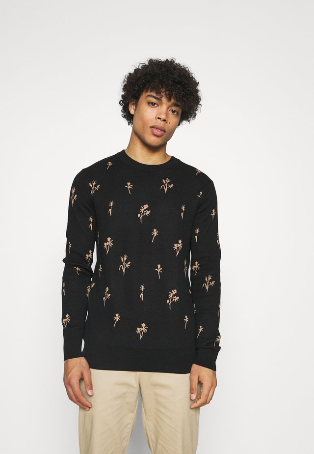 CREWNECK WITH ALLOVER PATTERN - Jersey de punto - combo