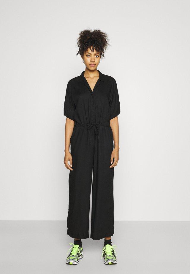 Tuta jumpsuit - black dark solid