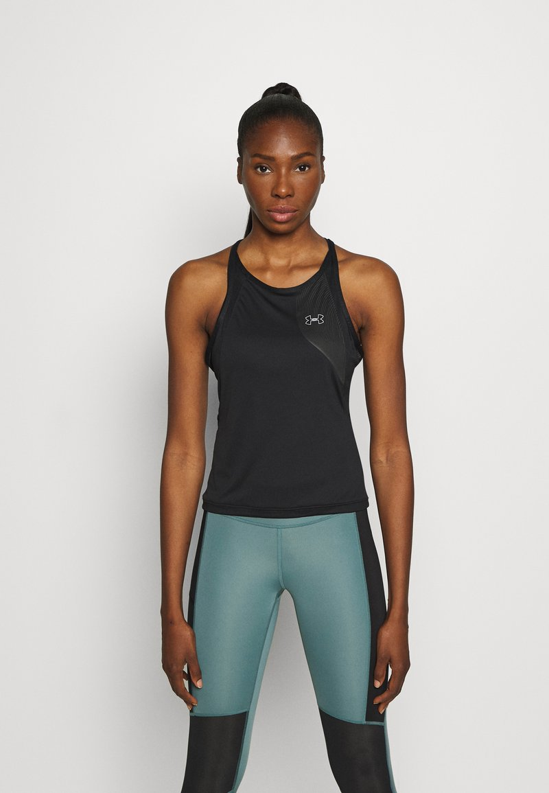 Under Armour - UA QUALIFIER ISO CHILL TANK - Funkční triko - black