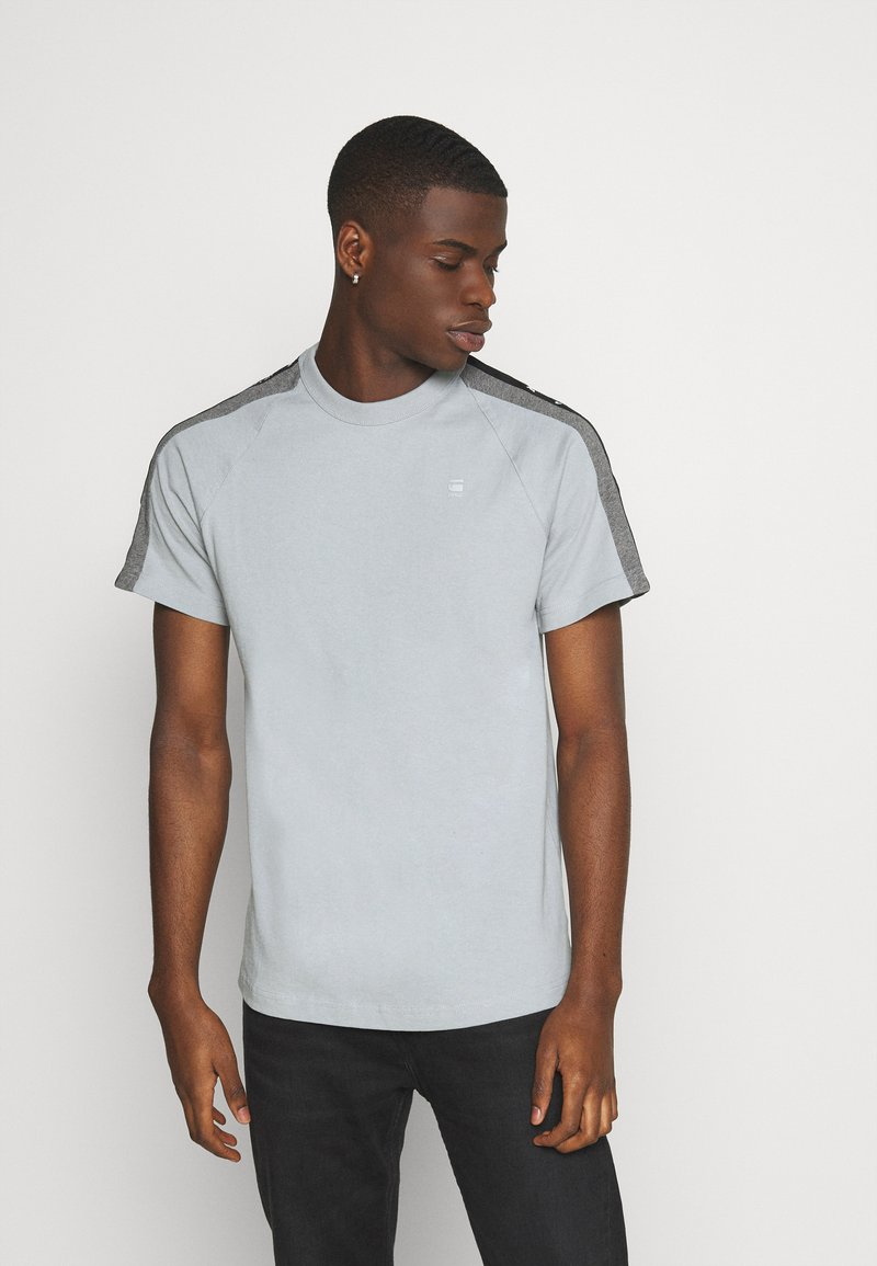 G-Star - SPORT TAPE LOGO + R T S\S - T-shirt print - correct grey