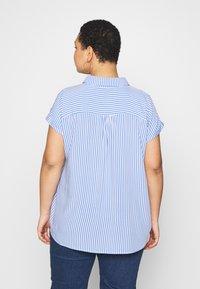 MY TRUE ME TOM TAILOR - SHORT DROP SLEEVE  - Button-down blouse - vertical blue - 2