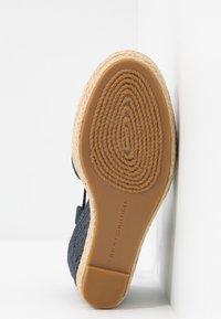 Tommy Hilfiger - BASIC CLOSED TOE HIGH WEDGE - Sandály na vysokém podpatku - desert sky - 6